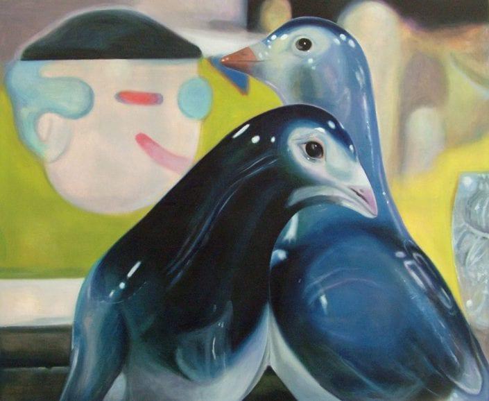 Bluebirds at the Flea Market - Melanie MacDonald