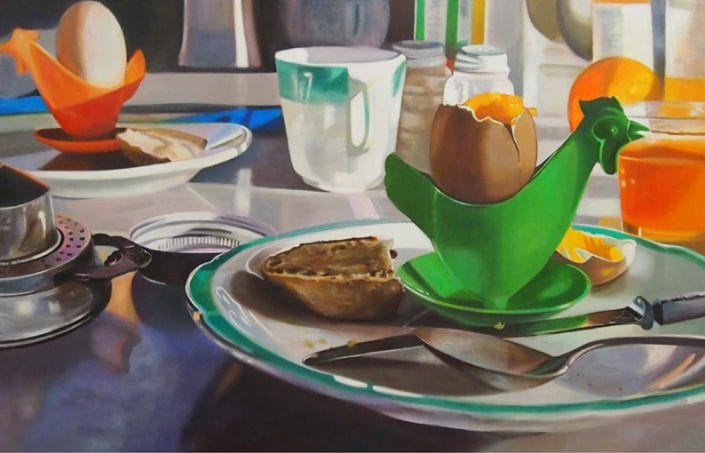 Green Hen and Breakfast Scraps - Melanie MacDonald
