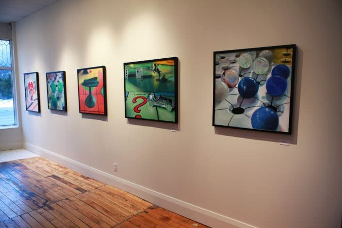 Installation at Cobalt Gallery - Melanie MacDonald