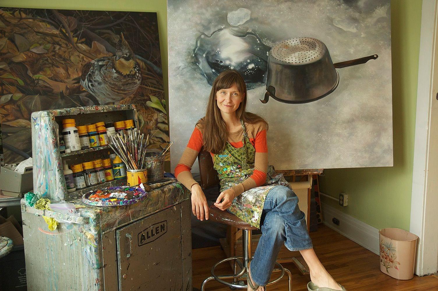 Melanie MacDonald in Studio