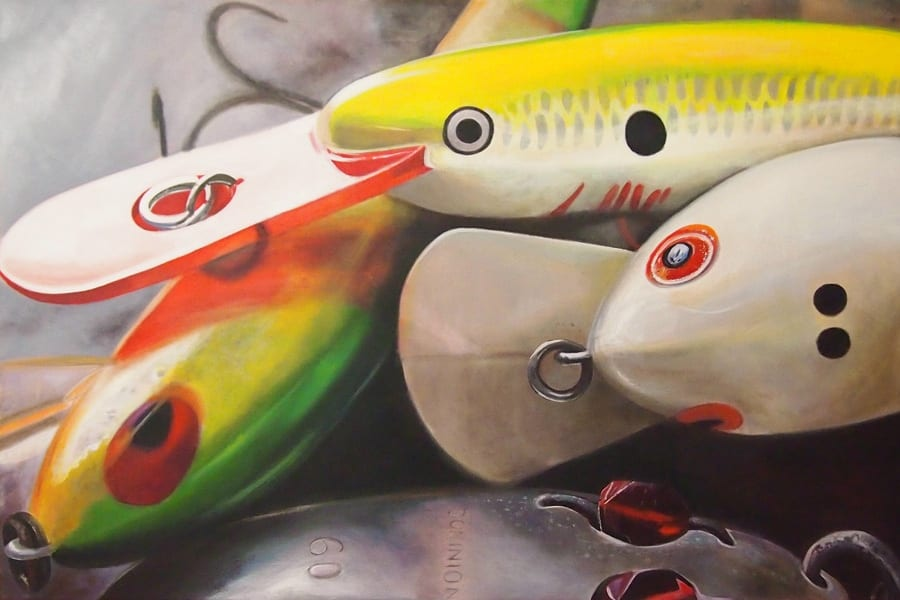 Stacked Fishing Lures - Melanie MacDonald